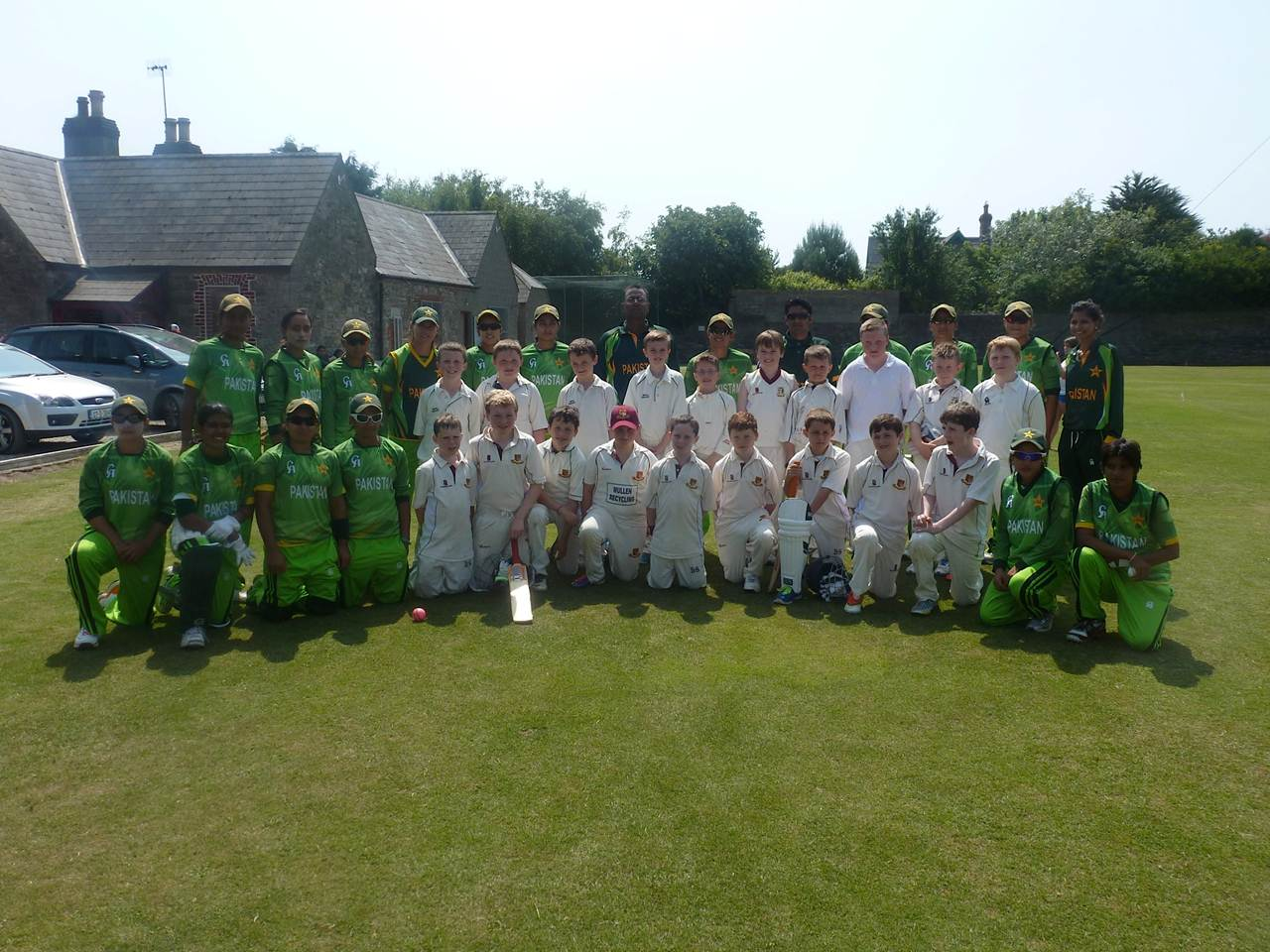 Leinster and Rush team and the Pakistan Ladies Team and coaches,